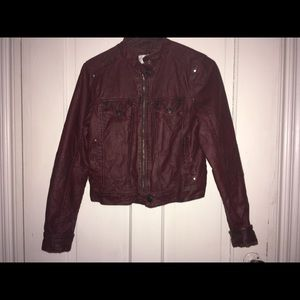 RED LEATHER JACKET!!